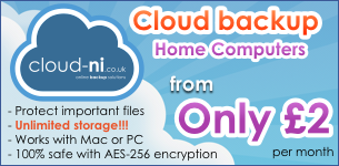 Unlimited online cloud backup only £2